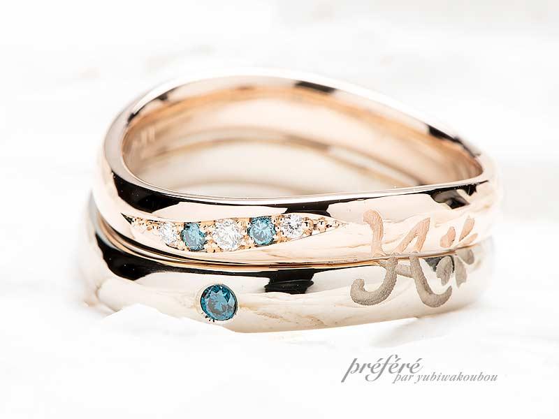 ペア25~30万円のペアデザインを入れた結婚指輪