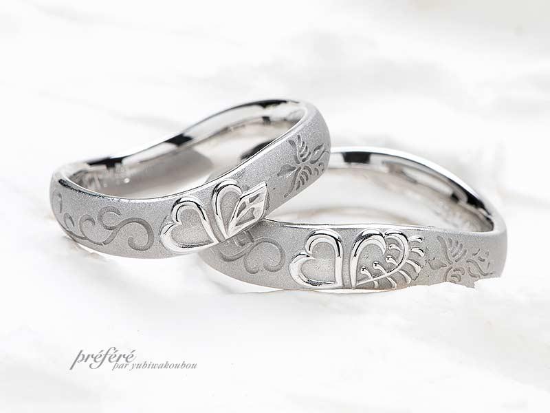フルオーダーでお創りした結婚指輪