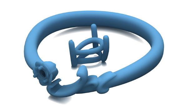 ペアシェイプカットの指輪のモデル型画像
