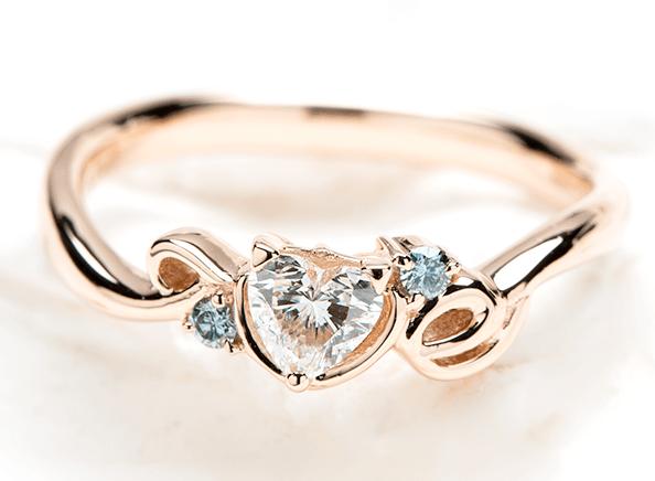 婚約指輪の作品例