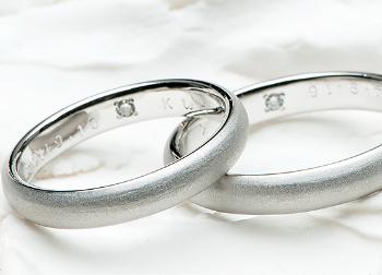 ツヤ消しの指輪の画像