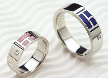 カラー入れの指輪の画像