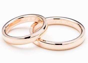 K18 ピンクゴールドの指輪の画像