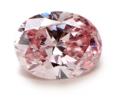 ファンシーピンクオーバルダイヤの画像