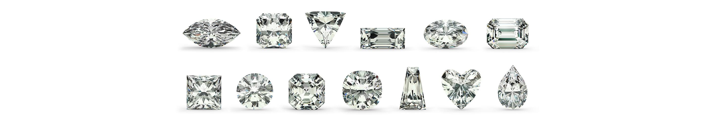 ダイヤモンドの色と形の画像