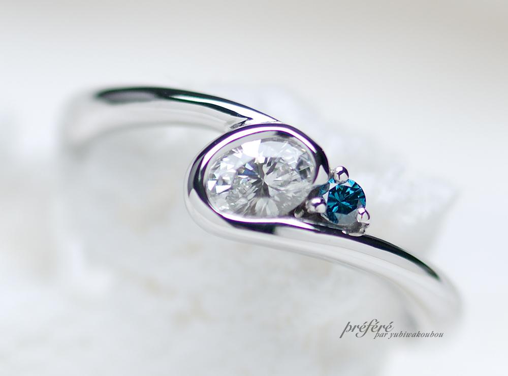 オーバルダイヤ 婚約指輪オーダー