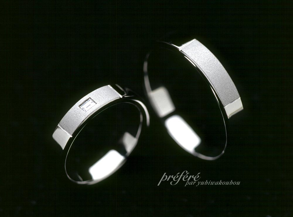バケットダイヤの結婚指輪