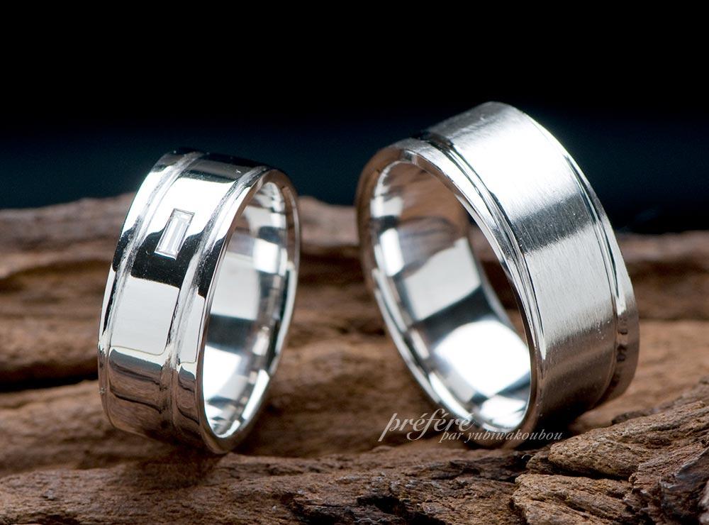 幅広リング,バケットダイヤ,結婚指輪,オーダーメイド