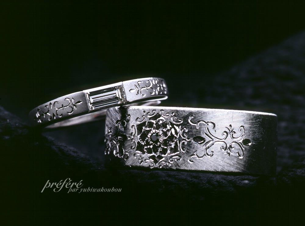結婚指輪,バケットダイヤ