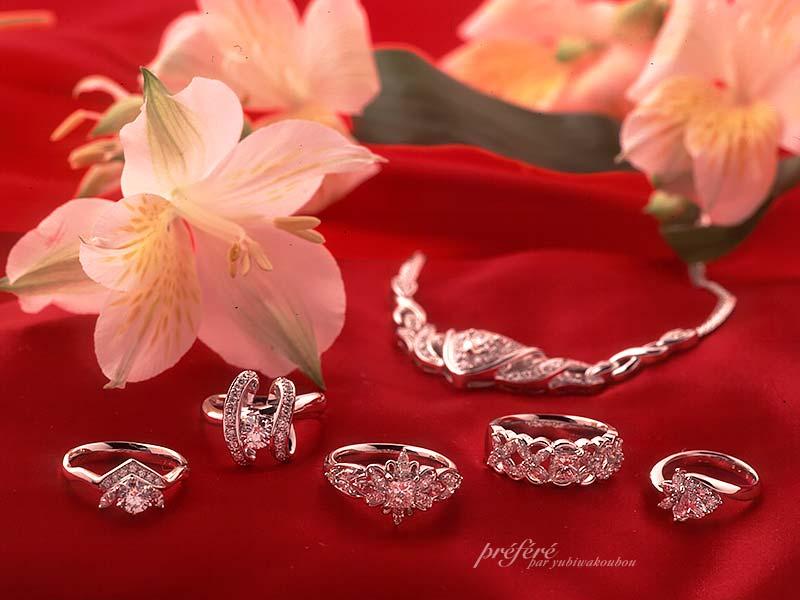 オーダーメイドでダイヤのジュエリーが出来上がりました。(指輪No.694)