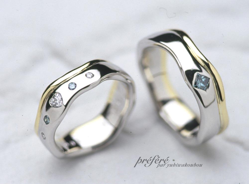 ハートダイヤの結婚指輪オーダー