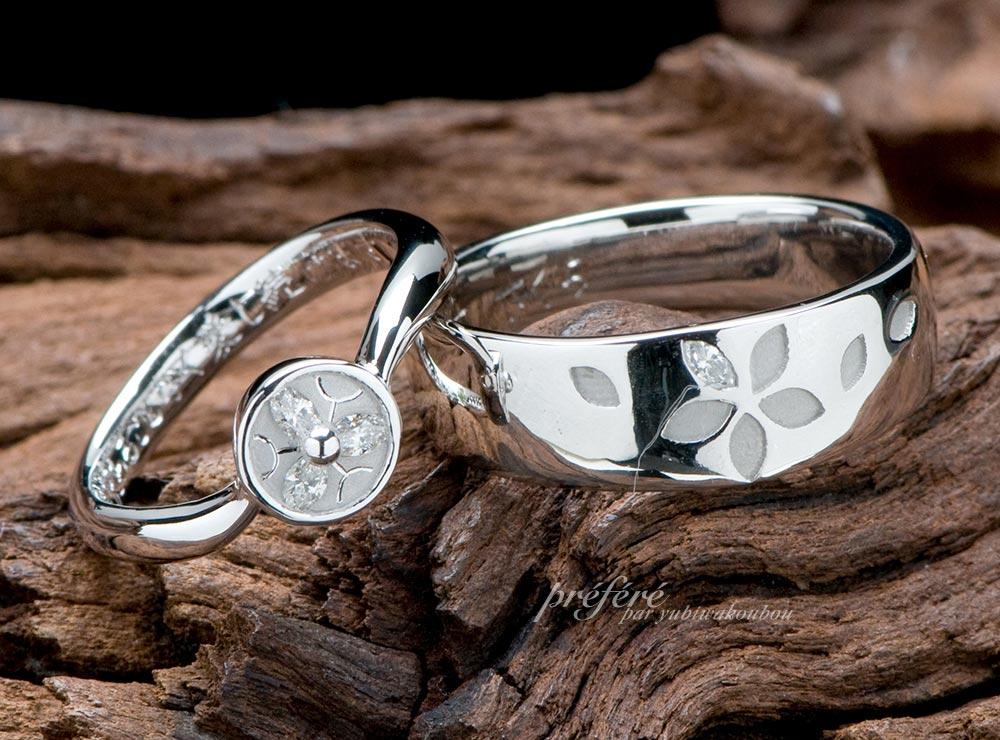 家紋デザイン,結婚指輪,オーダーメイド