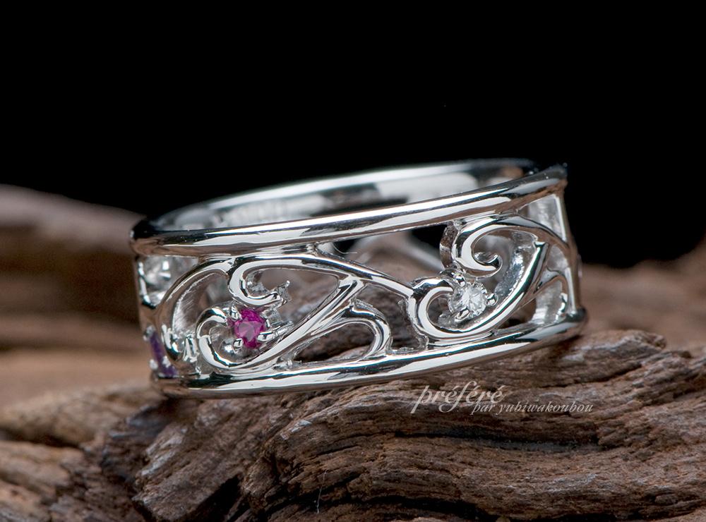 イニシャル 結婚10周年指輪オーダー