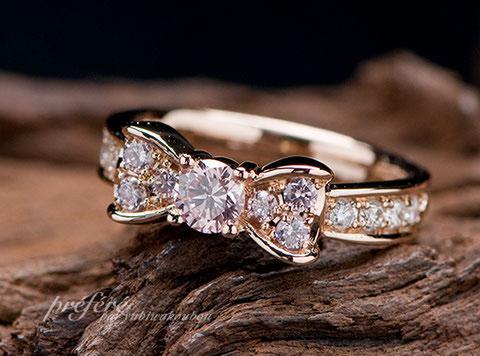 ピンクダイヤ 指輪リメイク