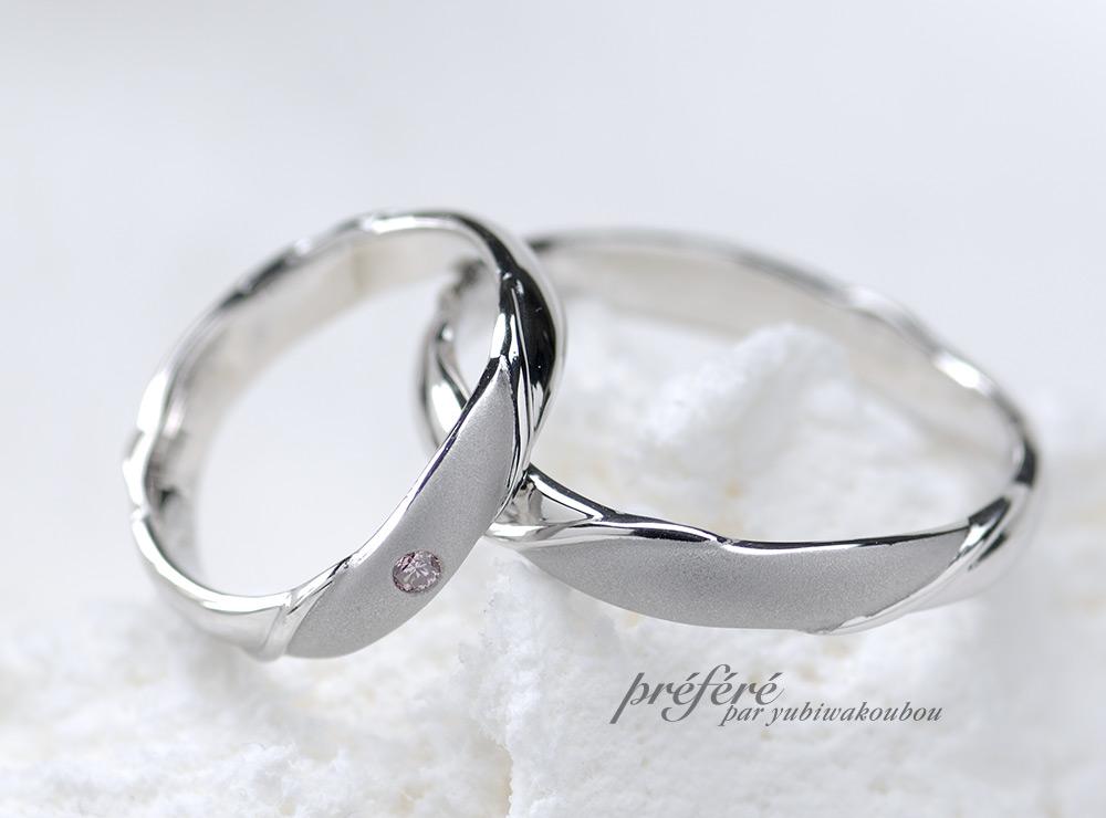 ピンクダイヤ 結婚指輪オーダー