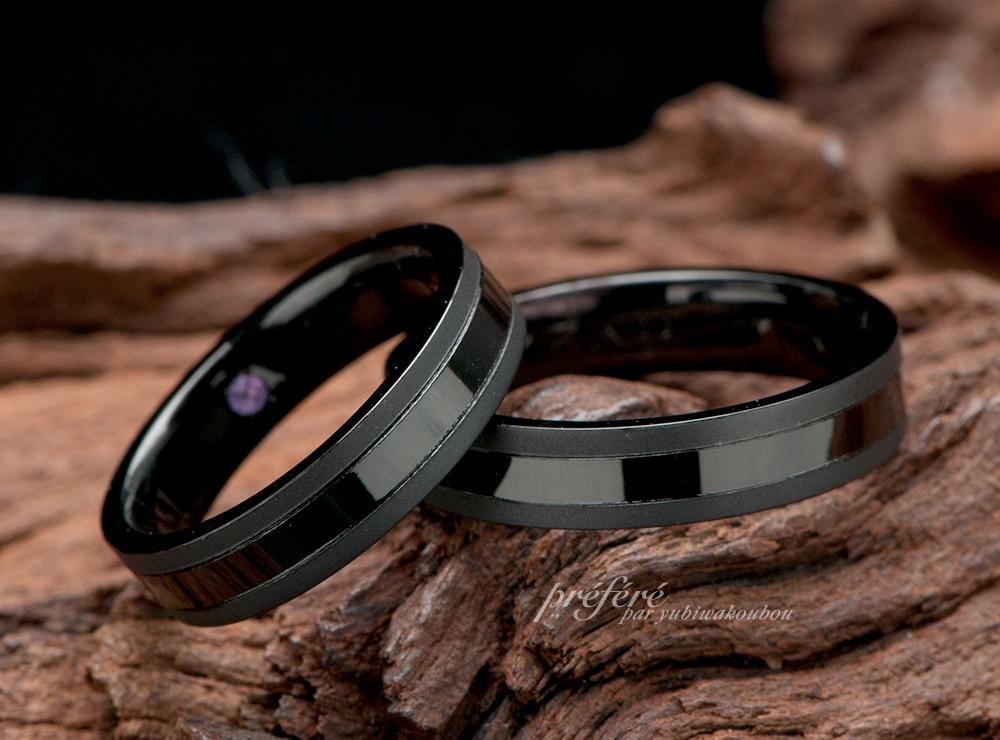 シンプルデザイン 結婚指輪オーダー,ブラックリング 結婚指輪オーダー