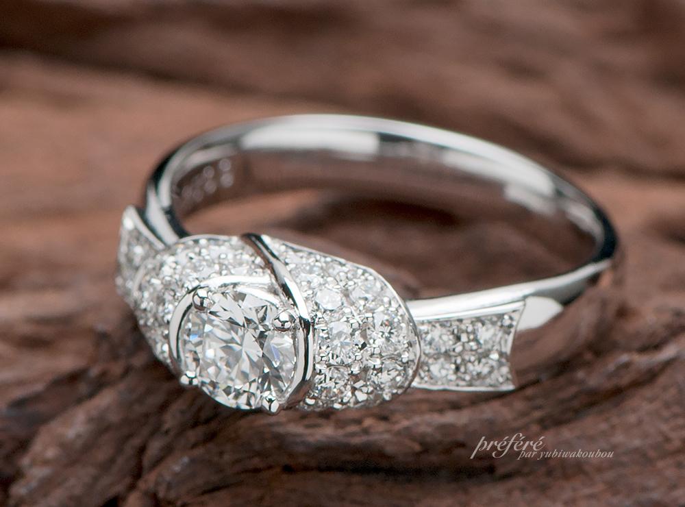 リボン 婚約指輪オーダー,ラウンドダイヤ 婚約指輪オーダー