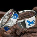 結婚指輪はオーダーで ブルーの干支モチーフ