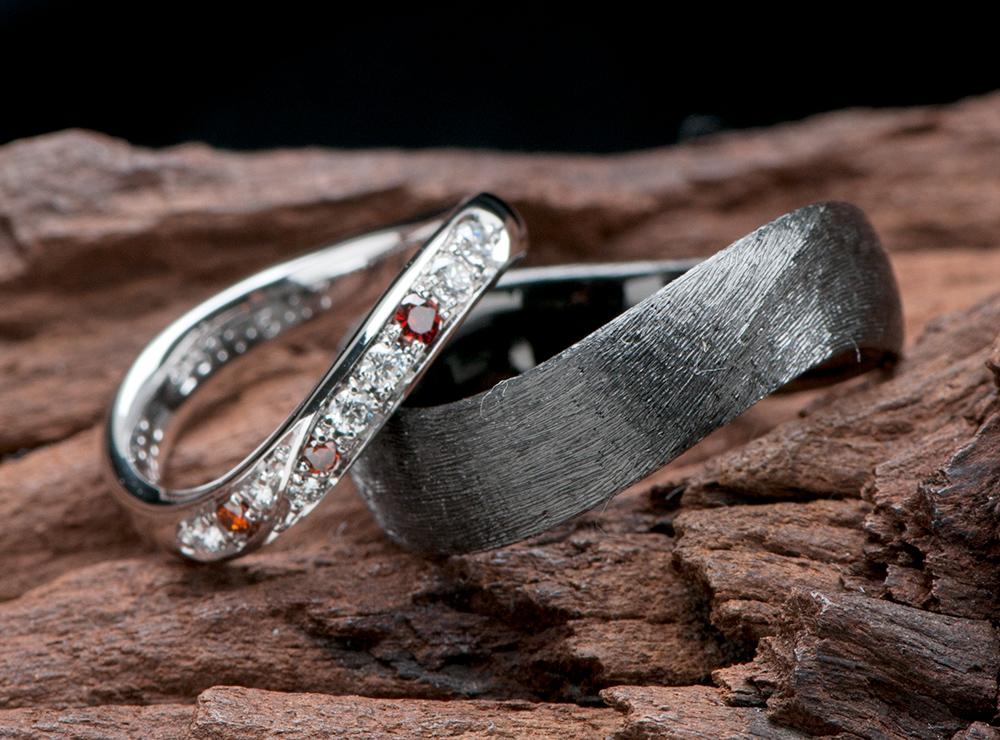 無限大∞ 結婚指輪オーダー,ブラックリング 結婚指輪オーダー