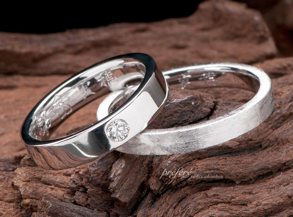 鍛造 結婚指輪オーダー,家紋 結婚指輪オーダー