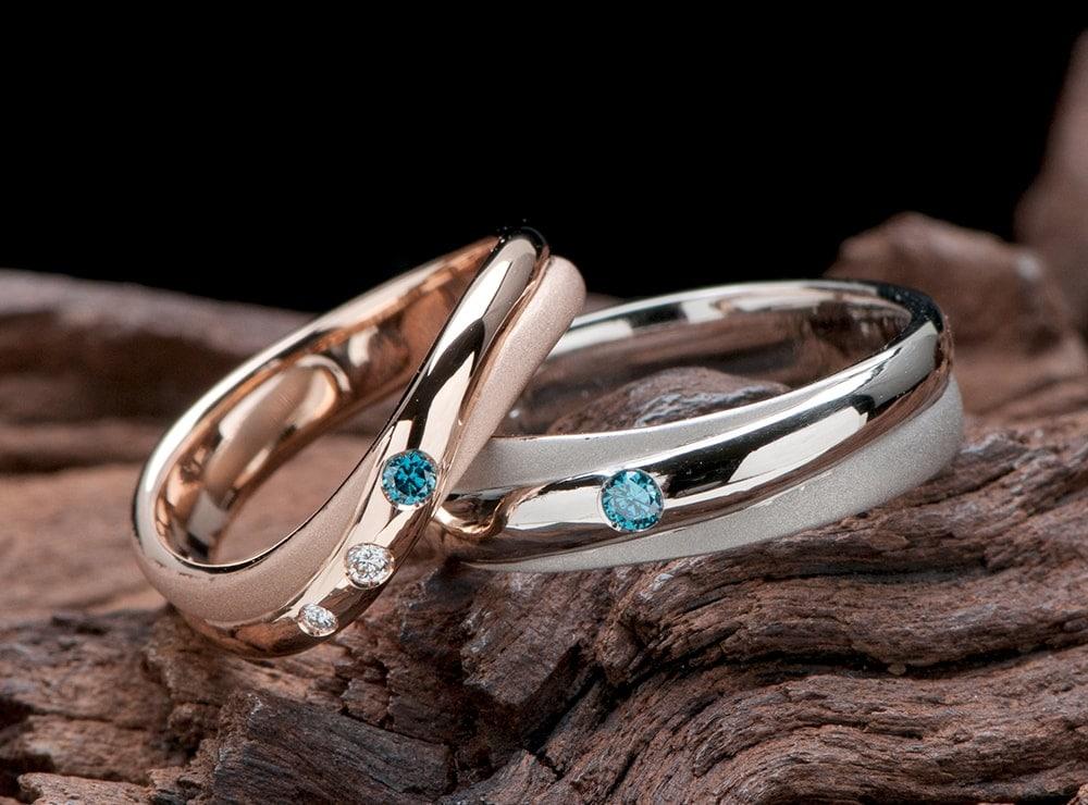 クロス形状 結婚指輪オーダー