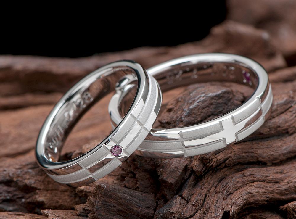 クロスモチーフ 結婚指輪オーダー
