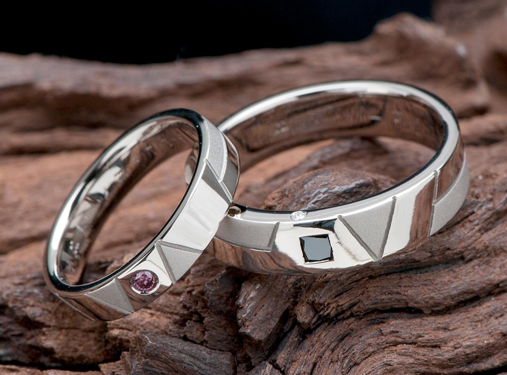 イニシャル 結婚指輪オーダー,ブラックダイヤ 結婚指輪オーダー