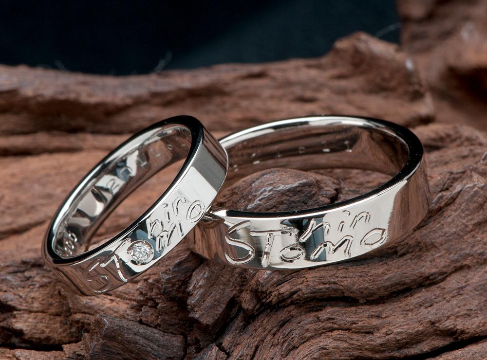 イニシャル 結婚指輪オーダーメイド,シャンパンゴールド 結婚指輪オーダー