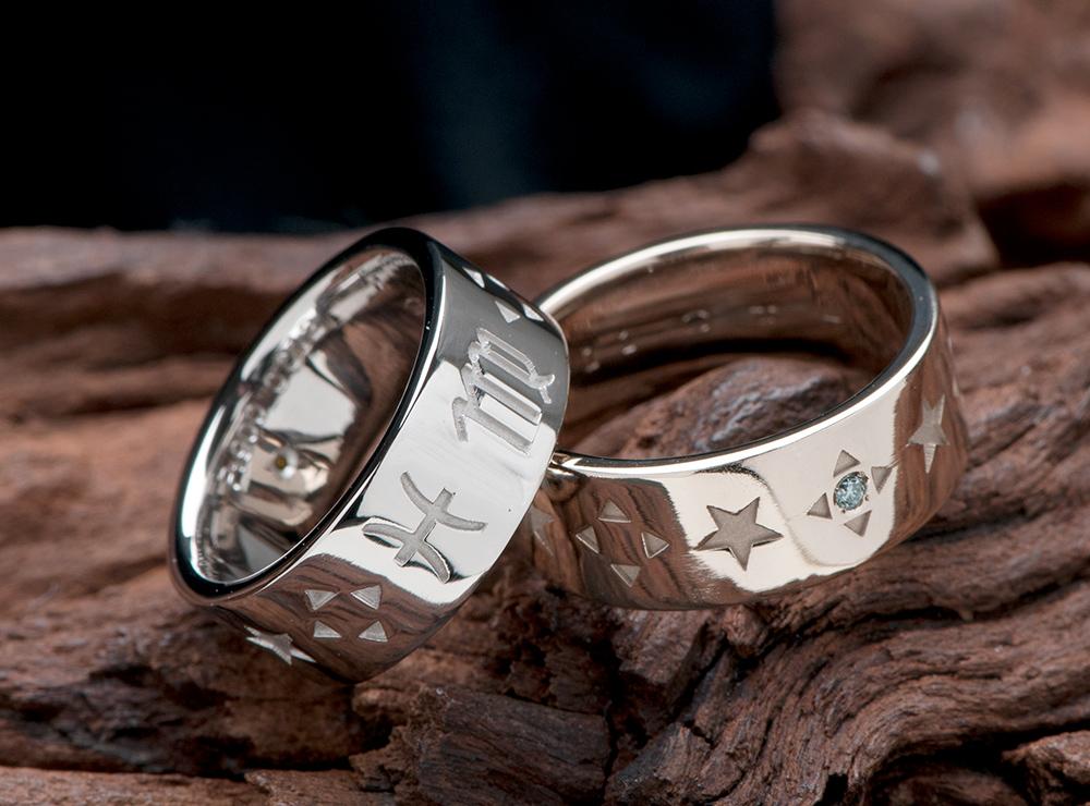 星座 結婚指輪オーダー