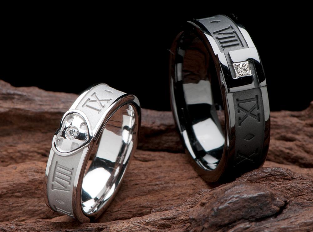 ローマ数字 結婚指輪オーダー,誕生日 結婚指輪オーダー,イニシャル 結婚指輪オーダー