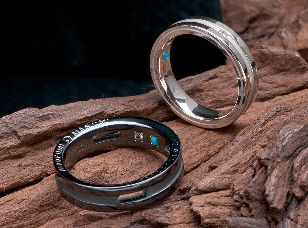 側面 記念日 結婚指輪オーダー