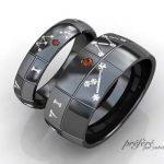 ブラックリングの結婚指輪はオーダーでプラネタリウム