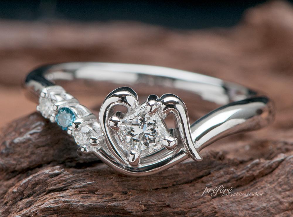 プリンセスダイヤ 婚約指輪オーダー プロポーズ, イニシャル 婚約指輪オーダー