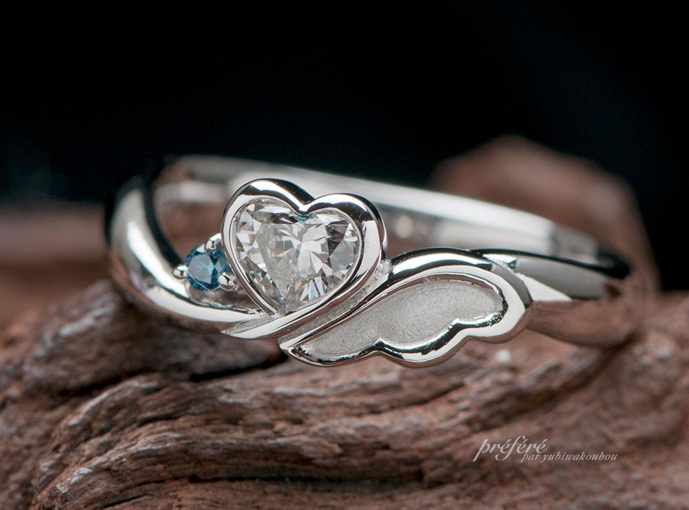 天使の羽根 婚約指輪オーダー