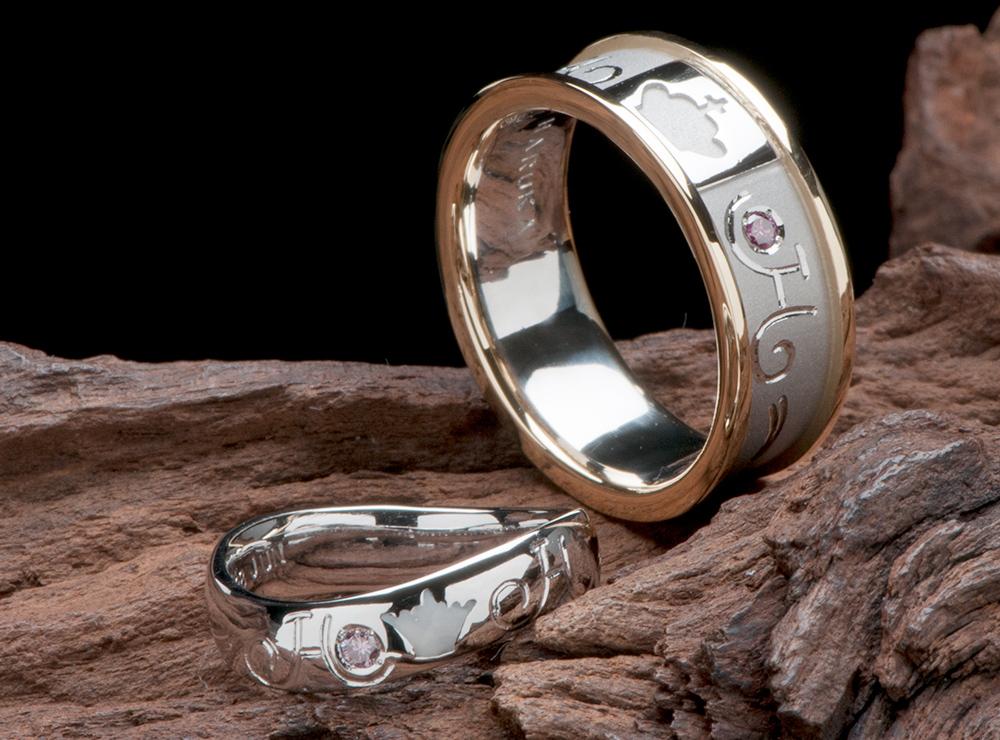 コンビ素材 結婚指輪オーダー,クラウン 結婚指輪オーダー,ティアラ 結婚指輪オーダー