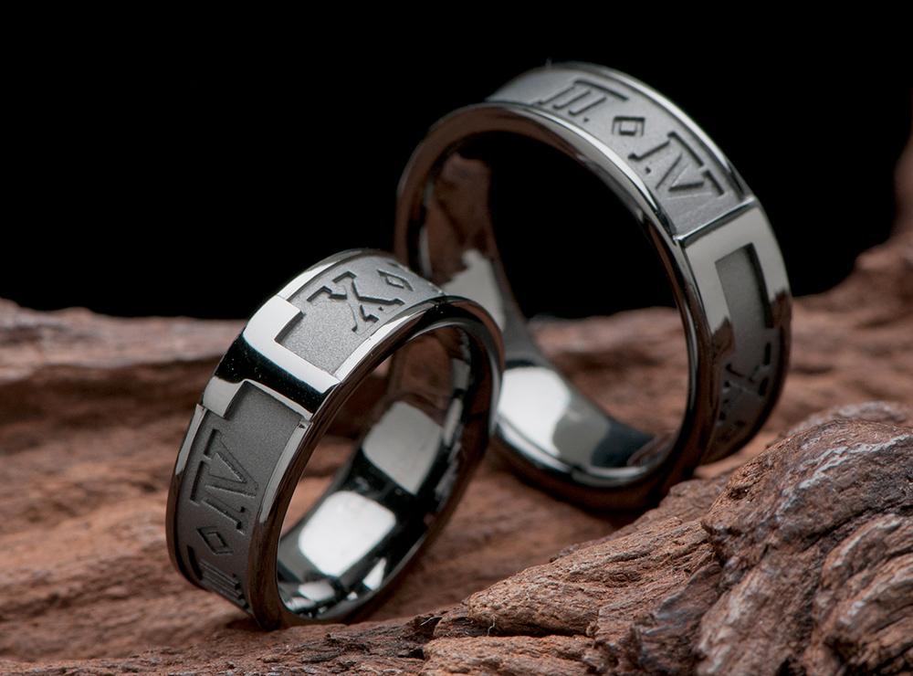 ローマ数字 結婚指輪 ブラックリングオーダー