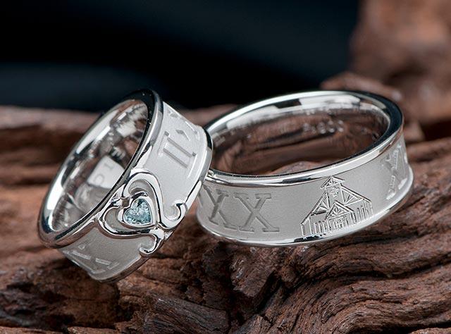 教会 結婚指輪オーダー,ブルーハートダイヤ 結婚指輪オーダー