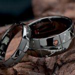 星座とプラネタリウムをイメージしたブラックの結婚指輪オーダー
