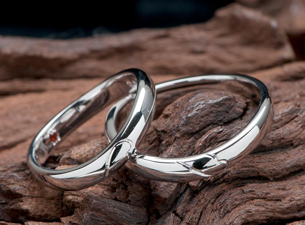 天使の羽モチーフ 結婚指輪オーダー