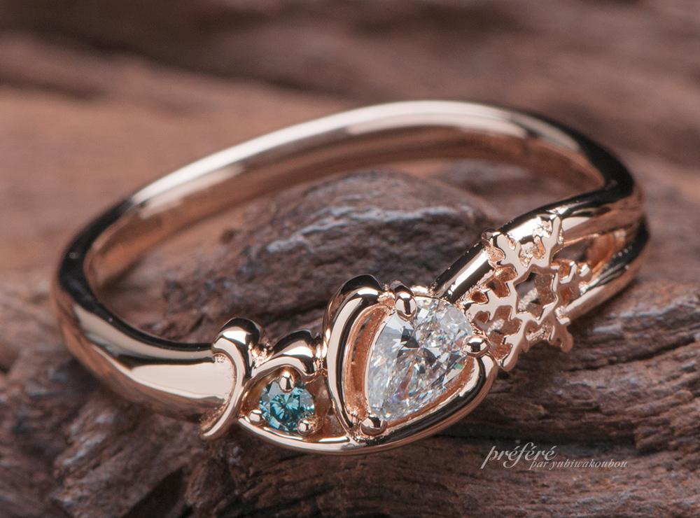 雪の結晶 婚約指輪オーダー プロポーズ