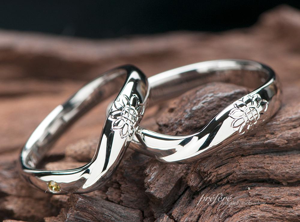 ひまわり 結婚指輪オーダー