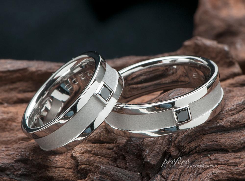 ブラックプリンセスダイヤ 結婚指輪オーダー