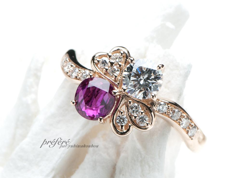 ルビー とダイヤの婚約指輪はリメイク