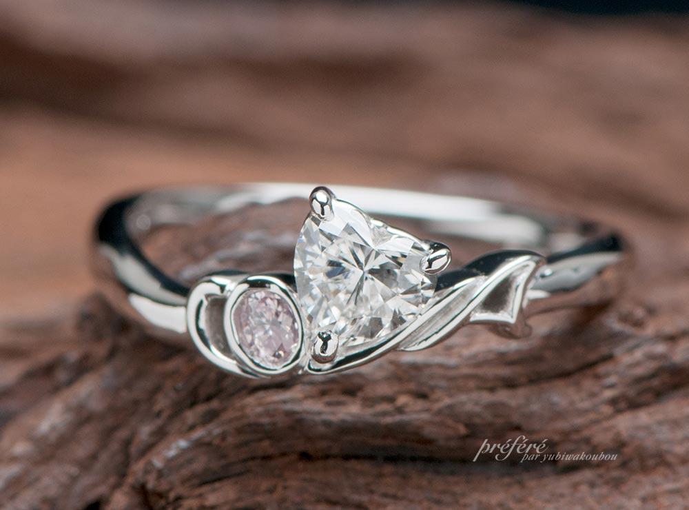 音符モチーフ婚約指輪