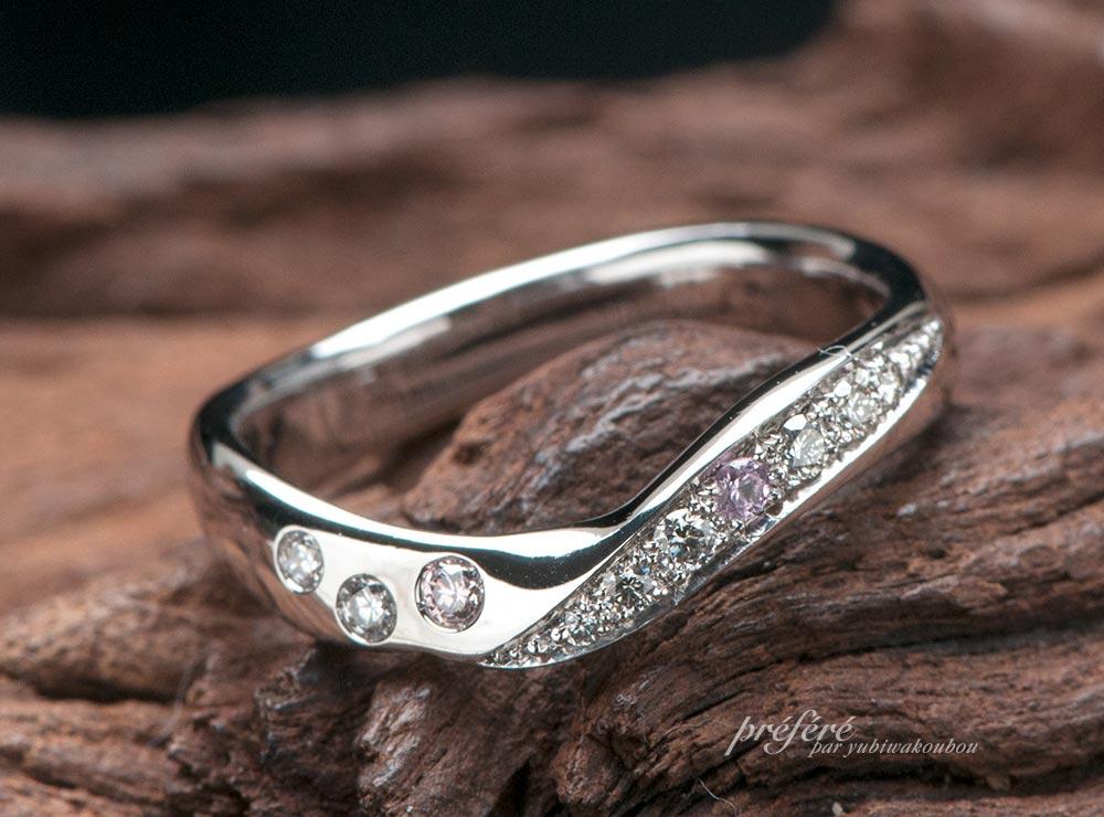結婚記念指輪 誕生石