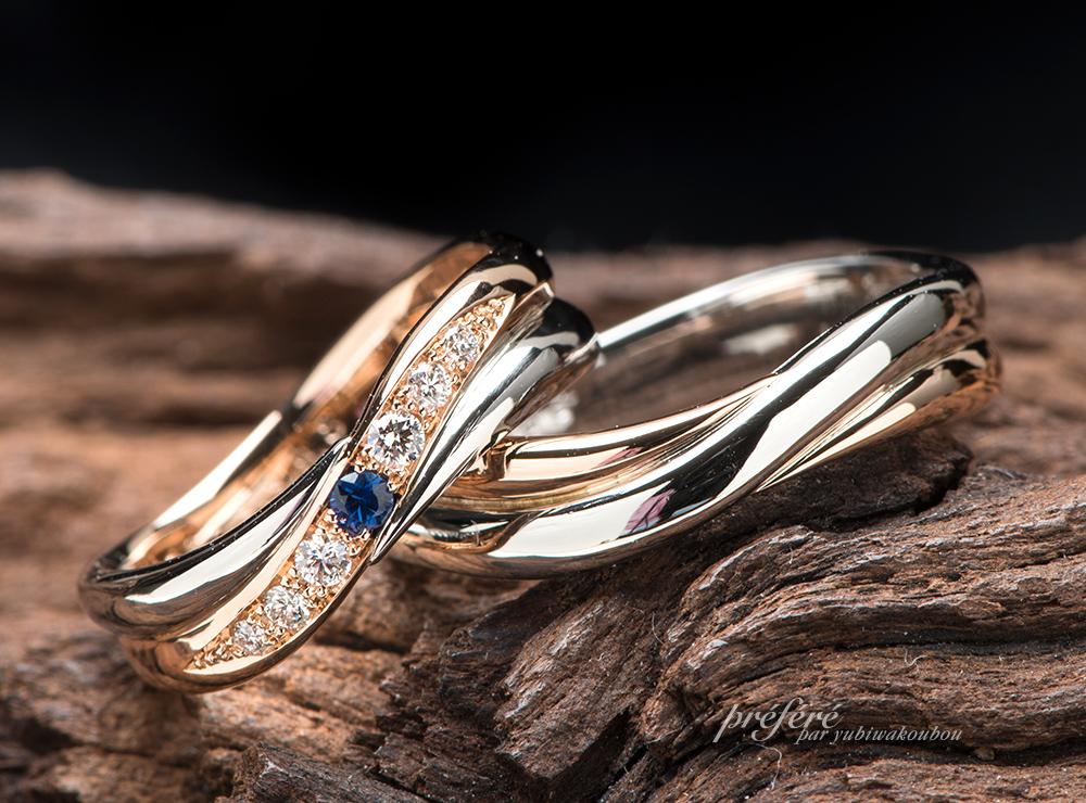 2連タイプ 結婚指輪オーダー
