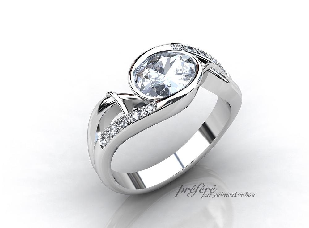 ダイヤ リメイク, 婚約指輪オーダー ,ダイヤリフォーム