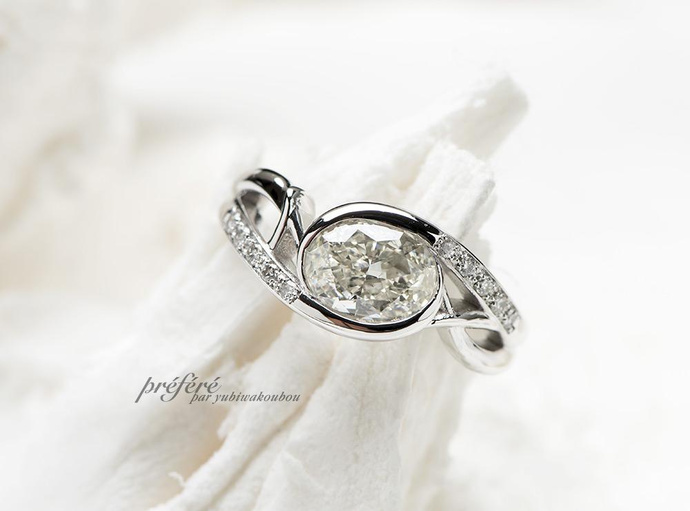 オーバル 婚約指輪オーダー