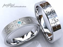 結婚10周年記念指輪 ペアリング