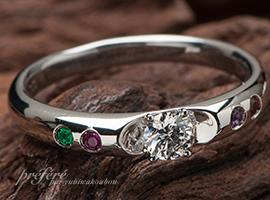 婚約指輪 リメイク 誕生石